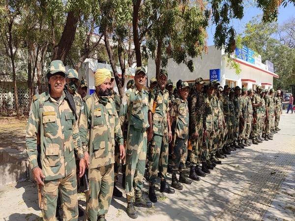 BSF contingent in Madurai, Tamil Nadu. (Photo/ANI)