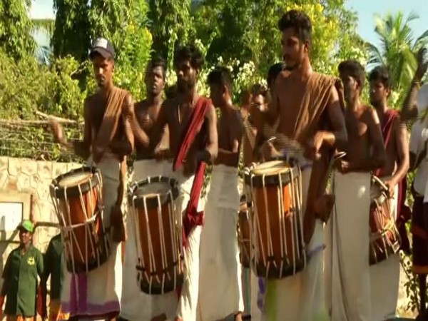 Hundreds of people beating drums lined up on the outskirts of Mahabalipuram to welcome PM Modi and Xi Jinping on Friday