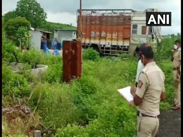 A visual from the spot where the body of the deceased was found in Washim, Maharashtra on Friday.