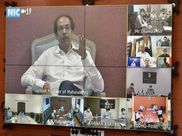 Maharashtra Chief Minister Uddhav Thackeray in the video conference on Tuesday.