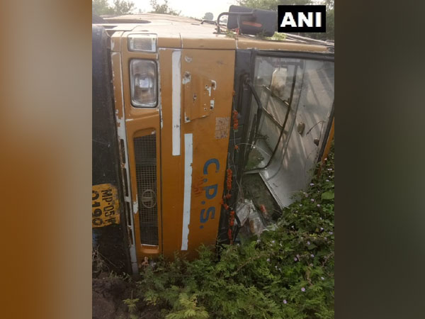 Five children have been injured after a school bus overturned in Hoshangabad