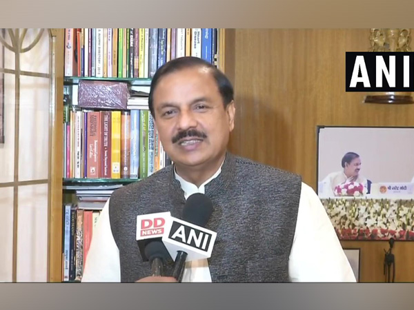 Union Minister of State Mahesh Sharma talking to ANI on Friday at New Delhi