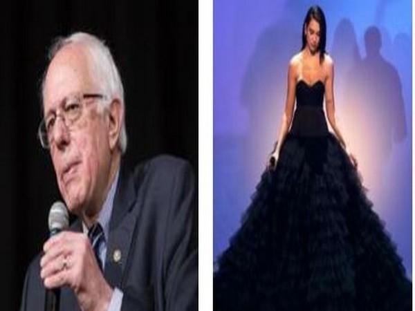 Bernie Sanders and Dua Lipa (image Source: Instagram)