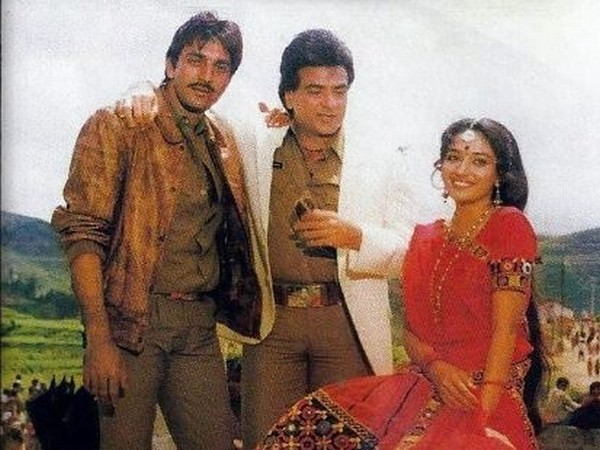Sanjay Dutt, Jeetendra and Madhuri Dixit in a still from Thanedar (Image Source: Instagram)