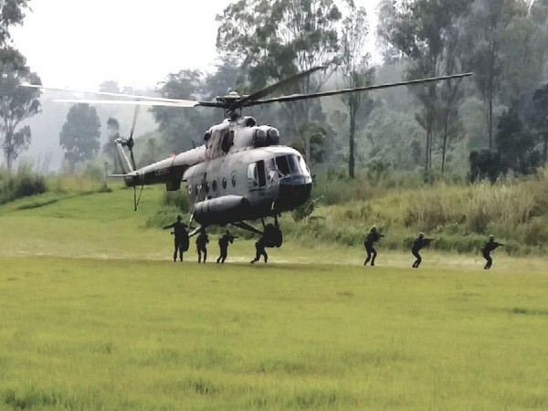 Troops from India, Thailand participate in annual joint military exercise 'MAITREE' in Meghalaya on Friday.