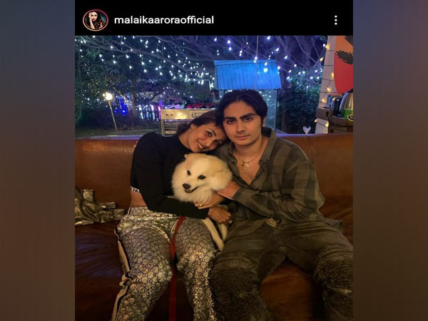 Malaika Arora with her son Arhaan Khan and pet Casper. (Source: Instagram)