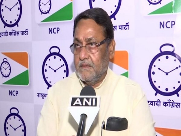 NCP leader Nawab Malik talking to ANI in Mumbai on Saturday.
