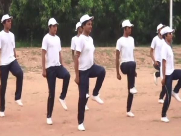 Surrendered Naxals and transgenders taking training in Malkangiri.