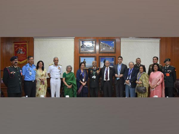 DIAV and Veena Nayyar, wife of late Vice Admiral KK Nayyar, signing an agreement on Monday.
