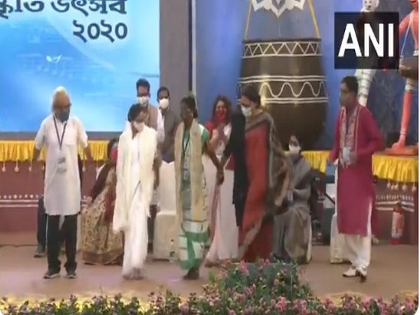 West Bengal Chief Minister Mamata Banerjee at the event on Wednesday.