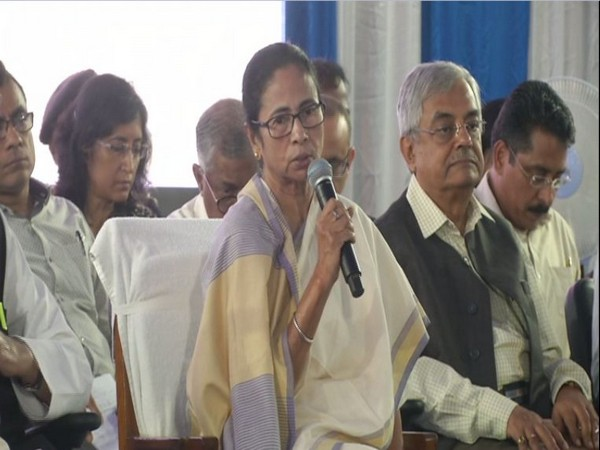 Chief Minister Mamata Banerjee speaking at a meeting in Siliguri, West Bengal on Tuesday. Photo/ANI