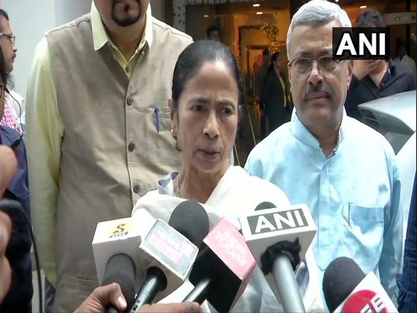 Chief Minister Mamata Banerjee speaking to reporters