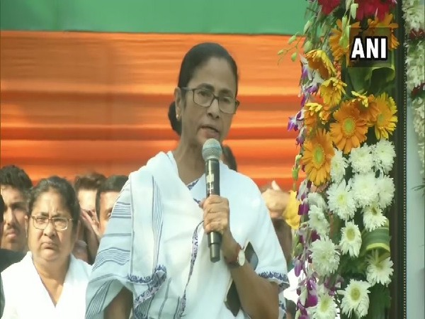 West Bengal Chief Minister Mamata Banerjee speaking at an event in Kolkata, West Bengal on Friday.