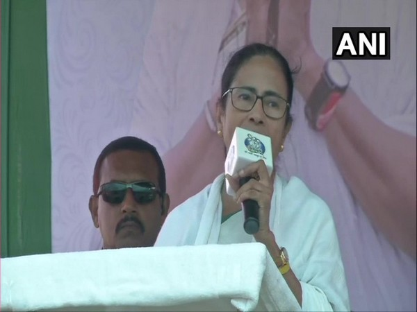 West Bengal Chief Minister Mamata Banerjee addressing a public rally in Mathurapur on Thursday.