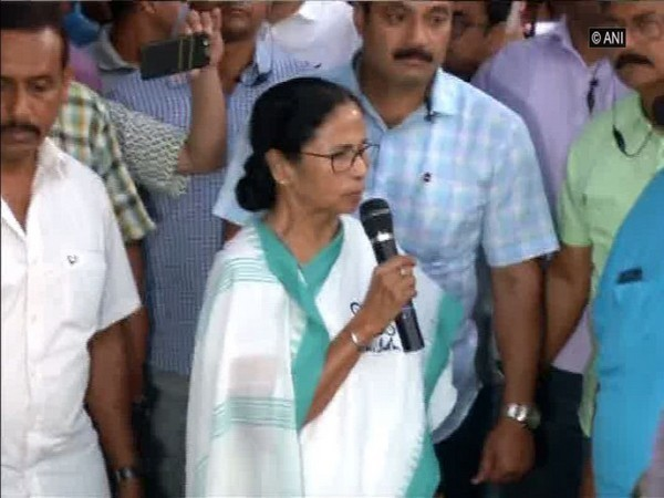 Chief Minister Mamata Banerjee speaks to students here on Wednesday.