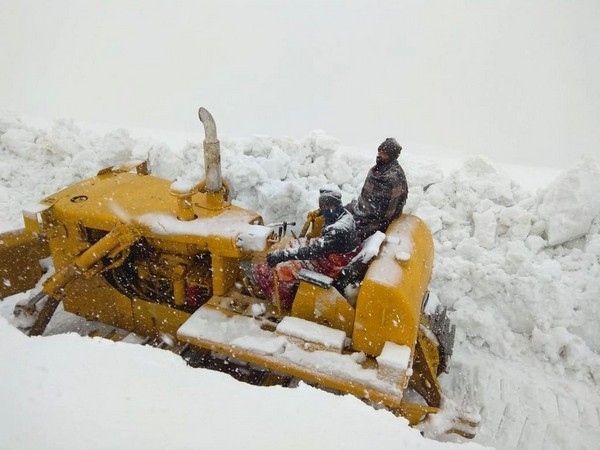 BRO workers during the earlier snow clearing operation on Manali-Leh highway. (File Image)