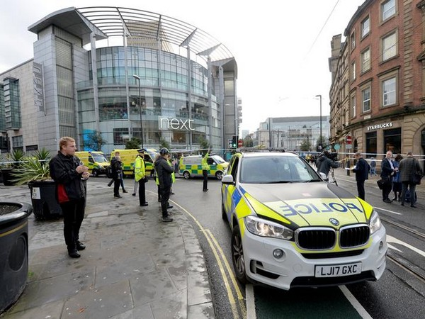 Police were seen outside a shopping mall in Manchester.