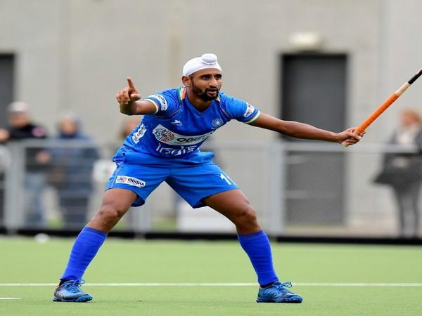 Indian Hockey player Mandeep Singh (Photo/Hockey India Twitter)