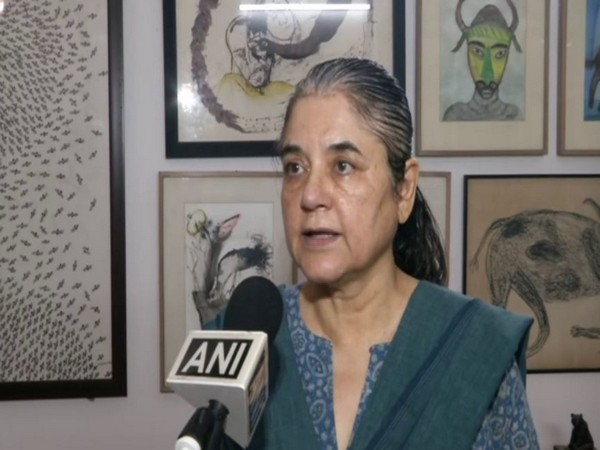 BJP leader Maneka Gandhi speaking to ANI in New Delhi on Wednesday. Photo/ANI