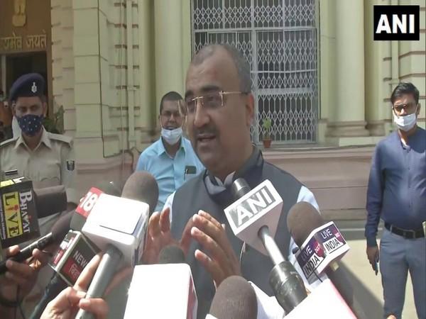 Bihar Health Minister Mangal Pandey speaking to media on Wednesday. (Photo/ ANI)