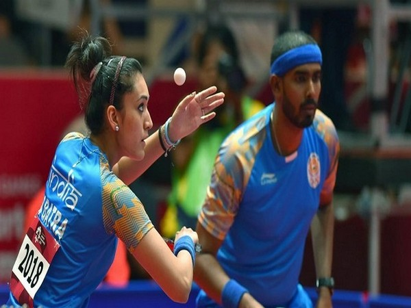 India paddlers Manika Batra and Sharath Kamal (Image: SAIMedia's Twitter)