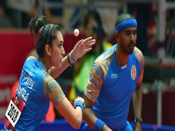 Sharath Kamal and Manika Batra (Photo: Twitter/SAIMedia)