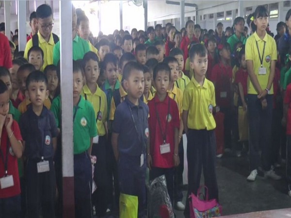 School students in Imphal, Manipur. Photo/ANI