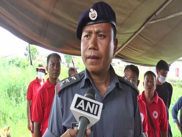 NDRF inspector Leivon Bojes speaking to ANI in Imphal, Manipur on Sunday.