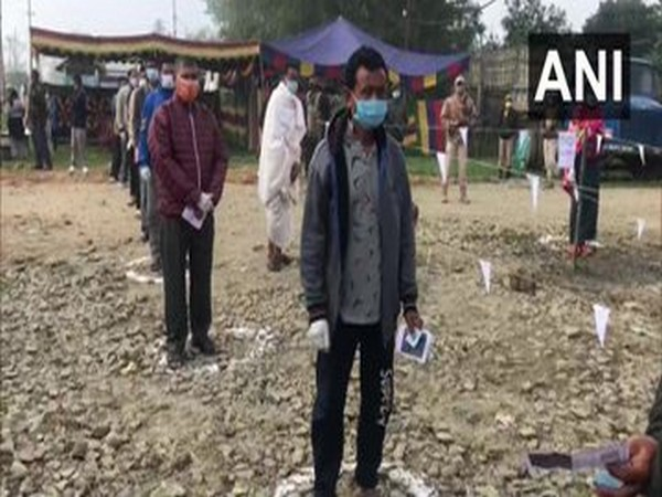 A visual from outside polling booth in Manipur