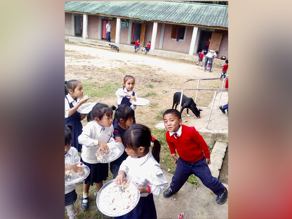 Students of Ukhrul's government school