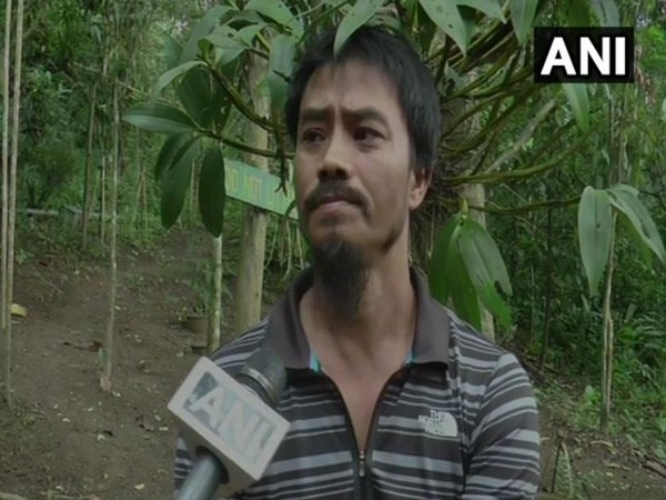 Moirangthem Loiya, the man who replanted 300 acres of Punshilok forest in Manipur. Photo/ANI