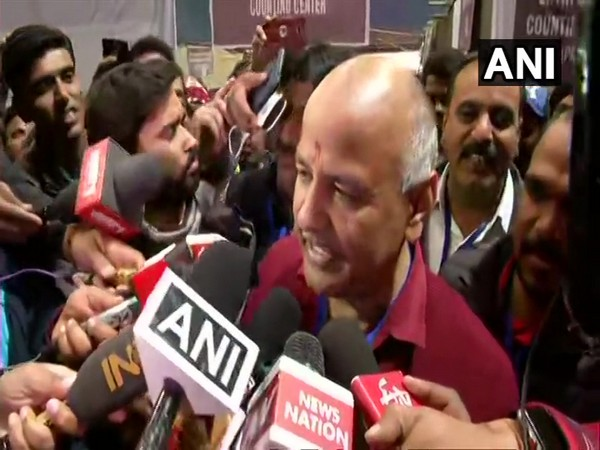 Delhi Deputy Chief Minister and AAP leader Manish Sisodia speaking to media on Tuesday. Photo/ANI