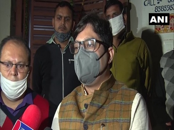 Drug Controller Officer Amandeep Chauhan speaks to media on Saturday. (Photo/ANI)