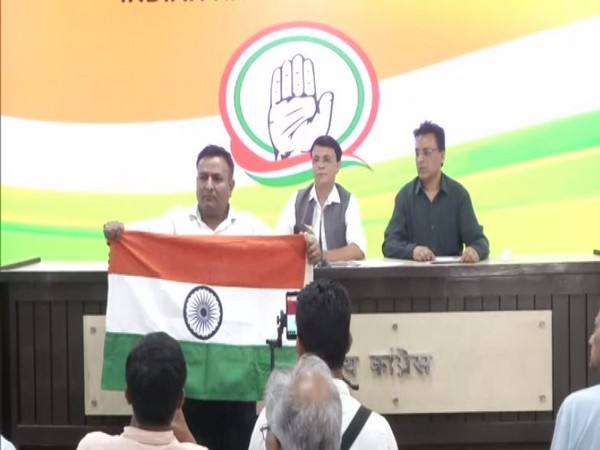 A man barged into the Congress PC in New Delhi on Wednesday. Photo/ANI