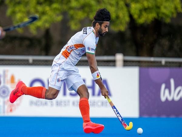 Men's hockey team captain Manpreet Singh (Photo/ Hockey India Twitter)