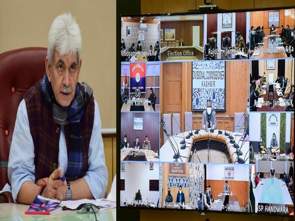 Lieutenant Governor Manoj Sinha reviewed election preparedness with officers in J-K (Photo/Twitter)