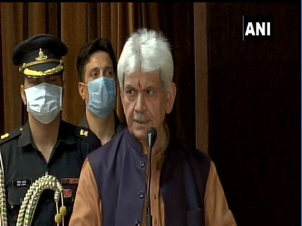 Jammu and Kashmir Lieutenant Governor Manoj Sinha (File Photo: ANI)