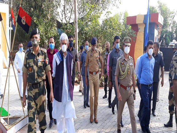 Jammu and Kashmir Lieutenant Governor Manoj Sinha on Wednesday visited border outpost of BSF at Hiranagar sector in Kathua district.