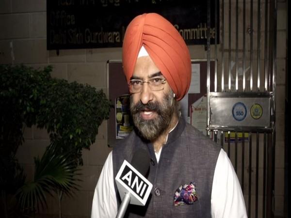 Manjinder Singh Sirsa speaking to ANI in New Delhi. Photo/ANI