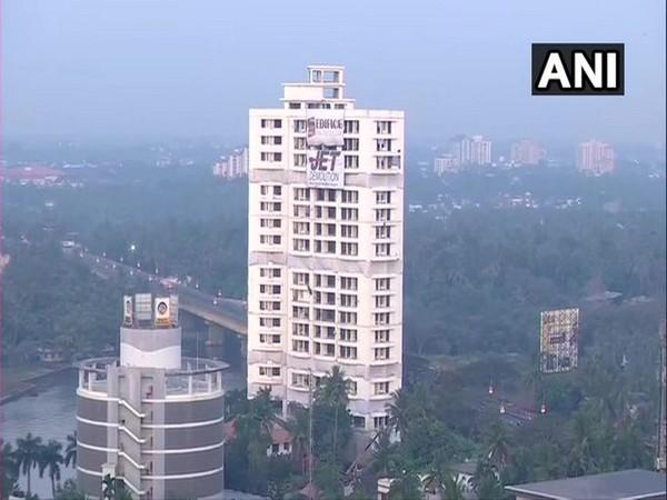 Illegal apartment complex in Maradu , Koch, Kerala