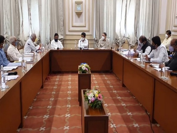 Visuals from meeting of Maharashtra Cabinet Sub-Committee.