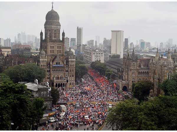 File pic of protest by Maratha Community