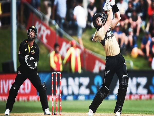 Kiwi batter Martin Guptill in action against Australia (Photo/ ICC Twitter)