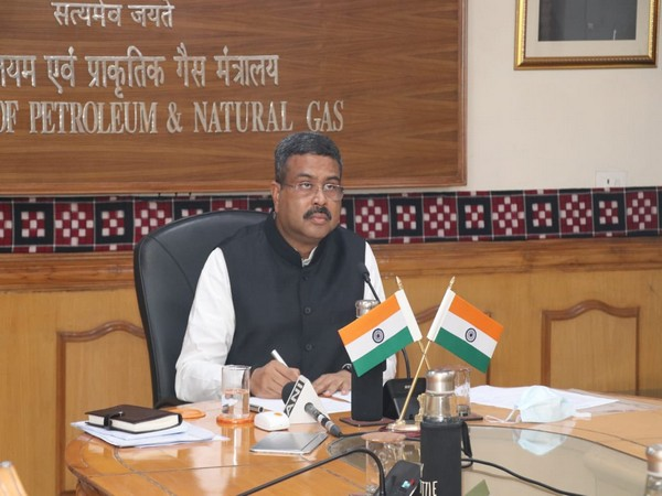 Union Minister of Petroleum and Natural Gas Dharmendra Pradhan. (Photo/ANI)