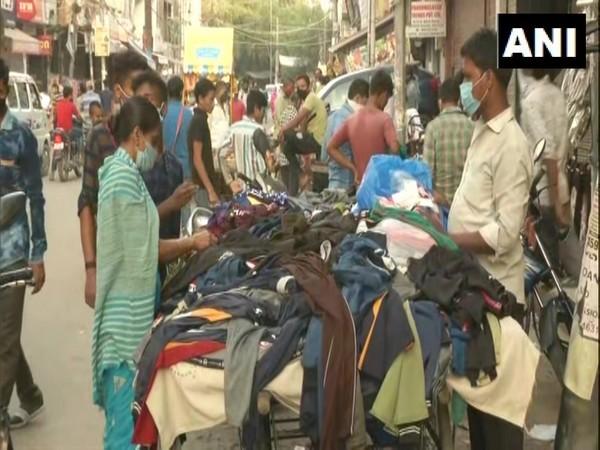 Visuals from Gandhi Nagar Market. (Photo/ANI)
