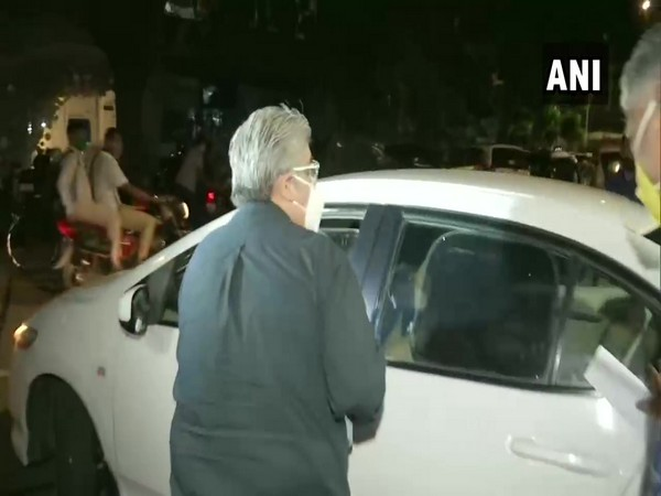 Film critic Rajeev Masand leaving Bandra police station on Tuesday. (Photo/ANI)