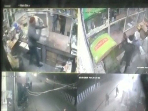 A grab from the CCTV footage.