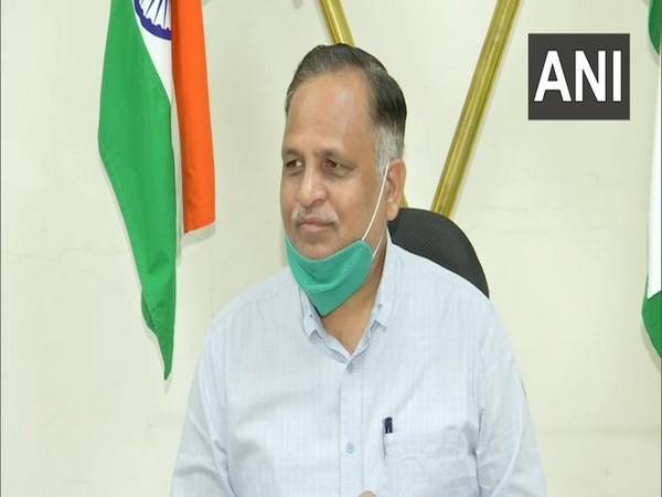 Delhi Health Minister Satyendar Jain speaking to ANI on Sunday. [Photo/ANI]