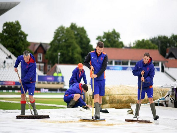 Match between India and New Zealand got abandoned due to rain (Photo/Cricket World Cup Twitter)