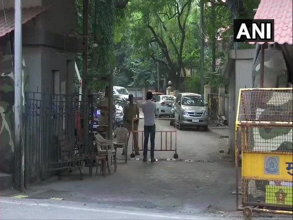 Security personnel outside Matoshree in Mumbai on Thursday